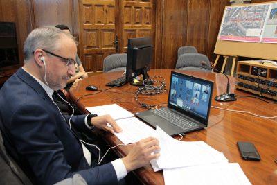 Rueda de prensa telemática de Olegario Ramón, alcalde de Ponferrada